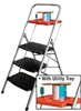 3 STEP STEEL FOLDING LADDERS • With Utility Tray