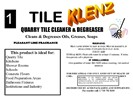 Tile Klenz Tile Cleaner & Degreaser