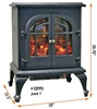 TWO DOORS STOVE STYLE HEATER