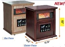 15 WOOD CABINET-STYLE INFRARED HEATER