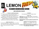 Lemon Fresh Cleaner Deodorizing Scrub