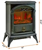 SINGLE DOOR STOVE STYLE HEATERS